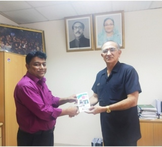 Meeting between CEO, OF EDU TECHNOLOGY & SUPPLIER WITH MAJOR GENERAL  PROFESSOR H R HARUN (Retd) , Principal , HOLY FAMILY RED CRESCENT MEDICAL COLLEGE ON 03-09-2019 regarding ICT & HIGHER EDUCATION RELATED MEETING